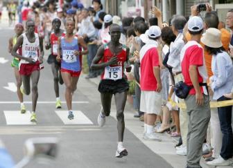 2008 Beijing Summer Olympics: Kenyan-born Jaouad Gharib & Mubarak Hassan Shami of Morocco Preview Marathon at the 2008 Beijing Summer Olympics | iHaveNet