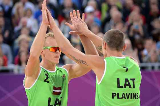 Latvian Pair Beat Dutch Duo for Men's Beach Volleyball Bronze