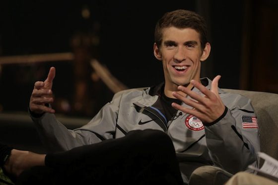 2012 SUMMER OLYMPICS -- Michael Phelps Interview -- Pictured: Michael Phelps -- (Photo by: Paul Drinkwater/NBC)