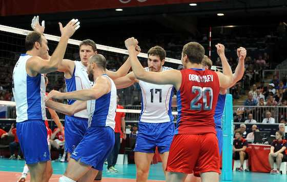 Russia Advances to Men's Volleyball Gold Medal Match