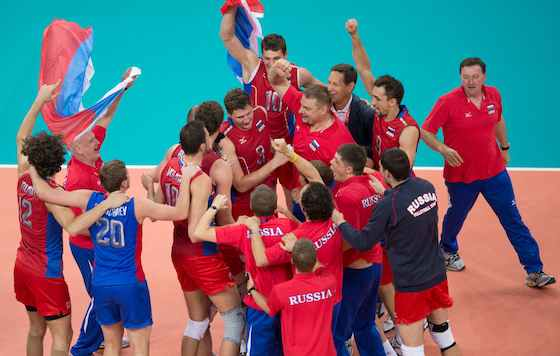 Russia Comes From Behind to Beat Brazil for Men's Volleyball Gold