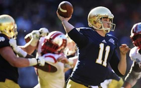 Notre Dame downs Rutgers in Pinstripe Bowl