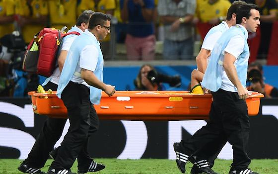 Neymar and Brazil in Pain Over World Cup Fracture - USA vs Belgium - Round of 16 | 2014 World Cup