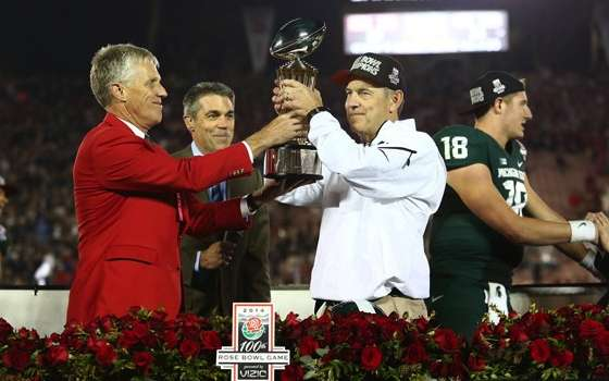Spartans Top Cardinal 24-20 in 100th Rose Bowl Game