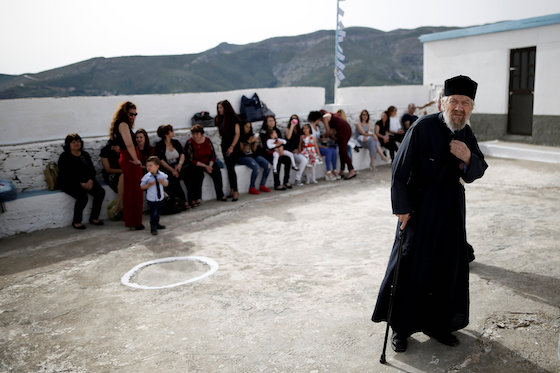 Greek Islanders Rely on Volunteers and God