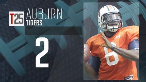 College Football Preseason Top 25: Auburn Tigers, No. 2