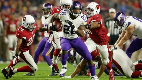 Vikings RB Adrian Peterson Scores 100th Career Touchdown