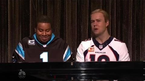 SNL Spoofs Peyton and Cam with 'Ebony and Ivory'