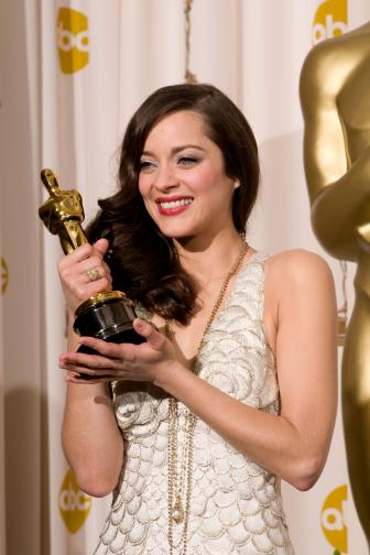 Best Actress Marion Cotillard backstage during the 80th Annual Academy Awards at the Kodak Theatre in Hollywood, CA on Sunday, February 24, 2008