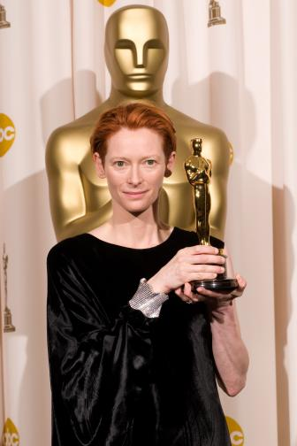 Best Supporting Actress winner Tilda Swinton backstage during the 80th Annual Academy Awards at the Kodak Theatre in Hollywood, CA on Sunday, February 24, 2008.