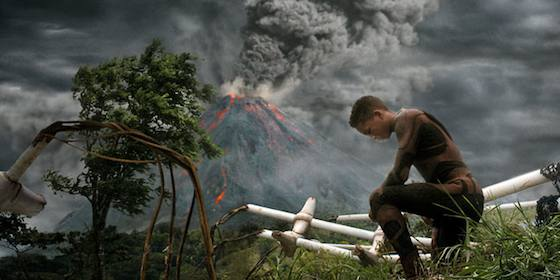Will Smith and Jaden Smith  in 'After Earth'