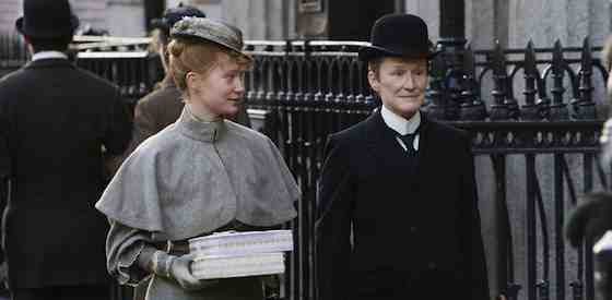 Glenn Close and Mia Wasikowskain Albert Nobbs