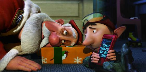 James McAvoy and Hugh Laurie in Arthur Christmas