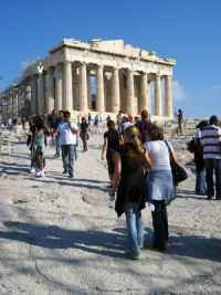 To avoid the crowds at the Parthenon, go in the early evening when the marble turns golden as the sun sets