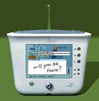 The dot-com bubble had just burst when this cutesy Internet appliance from 3Com hit the market in 2000. Costing $500, it was supposed to have the elegance of Audrey Hepburn (nope), be easier to use than other computers (nope), and be the first of a family of similar devices (nope).