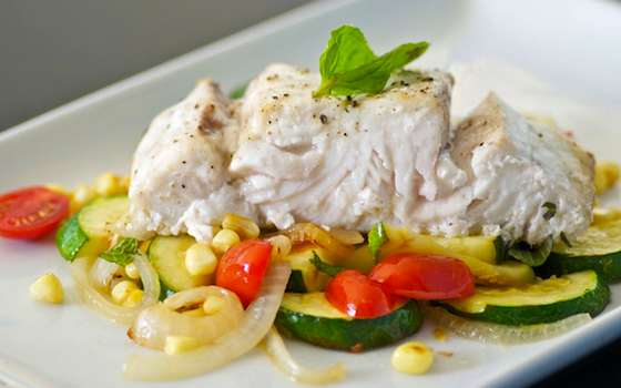 Baked California White Sea Bass