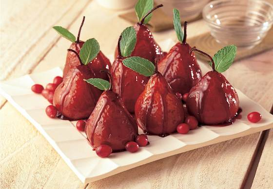 Baked Pears in Red Wine and Port Wine Glaze Recipe