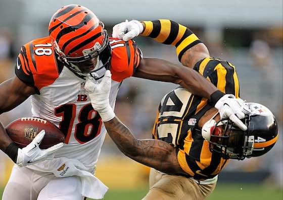 Bengals Steelers Facemask AJ Green