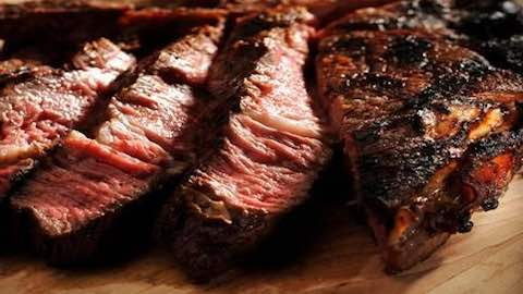 Bone-In Rib-Eye Steak with Wasabi Sour Cream Recipe