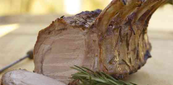Bone-in Pork Loin with Dijon Sauce Recipe