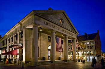 Boston's Quincy Market Faneuil Hall Marketplace