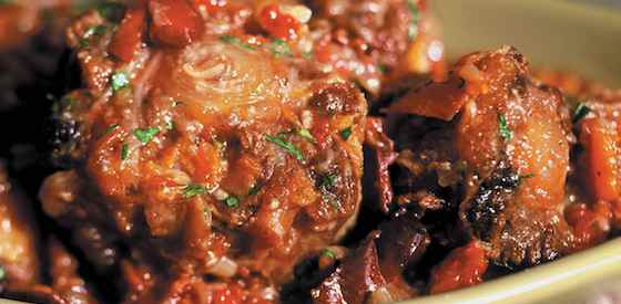 Braised Oxtail Stew with Olives