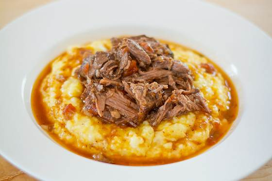 Braised Shredded Beef in Tomatoes and Red Wine Recipe