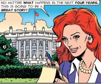 Barack Obama President Inauguration 2009. The Brenda Starr comic strip is drawn by June Brigman and written by Mary Schmich