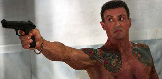 Sylvester Stallone and Adewale Akinnouye-Agbaje  in 'Bullet to the Head'