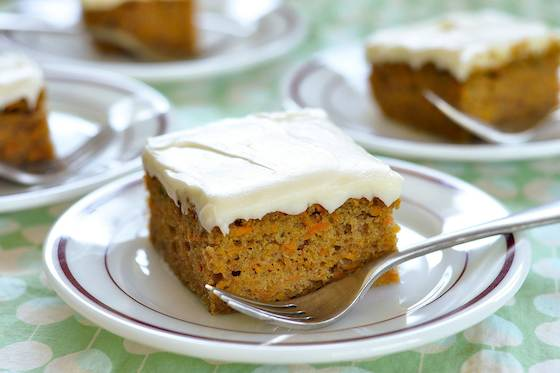Carrot Sheet Cake with Cream Cheese Frosting Recipe