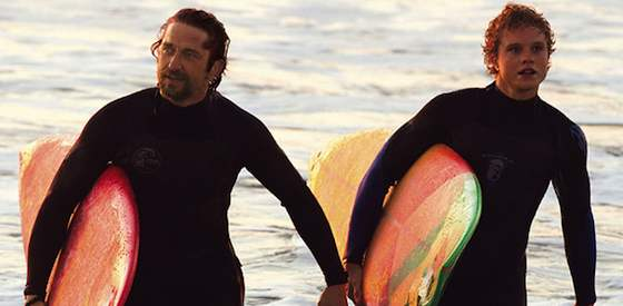 Gerard Butler and Elisabeth Shue  in Chasing Mavericks