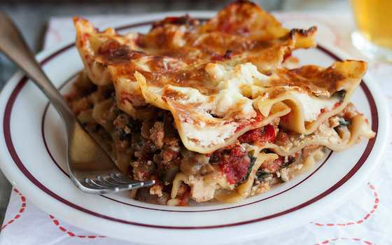 Cheesy All-Vegetable Lasagna Recipe
