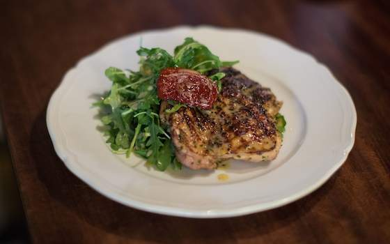 Chicken Paillard with Arugula Salad Recipe