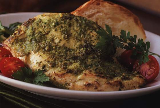 Chicken Paillard with Mexican Pesto Vinaigrette Recipe