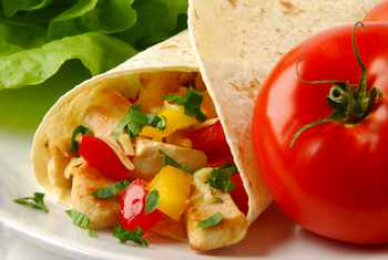 Chicken Tortilla Wraps Fast But Not Too Fast Food: Making Healthy Meals Kids Love