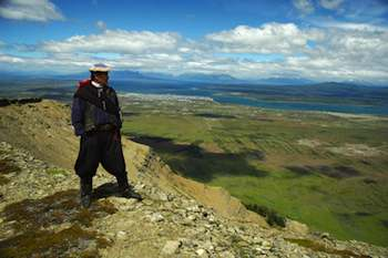 One of Remota's most popular excursions, led by a Chilean gaucho through Sierra Dorotea, offers a 360-degree view of Puerto Natales