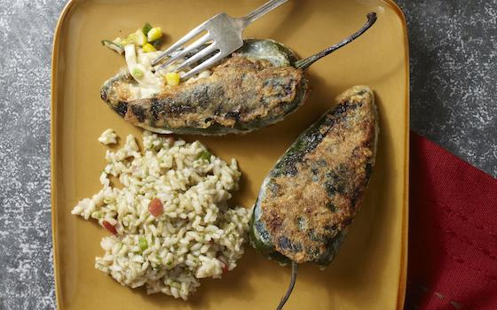 Chiles Rellenos with Chicken Recipe Recipe