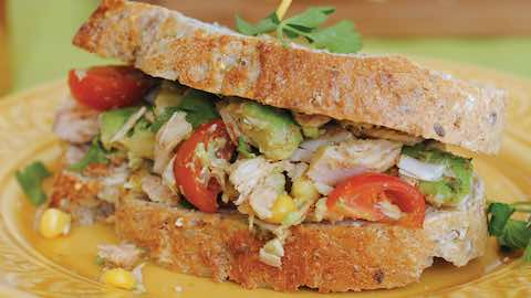 Chipotle Tuna and Avocado Salad Sandwich Recipe