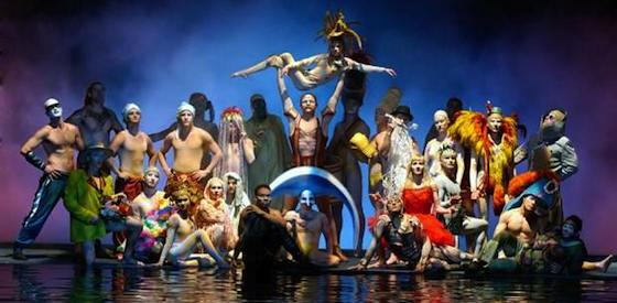 Lutz Halbhubner and Dallas Barnett  in Cirque du Soleil: Worlds Away