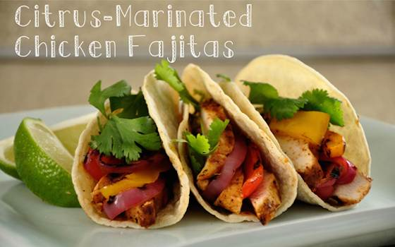 Citrusy Chicken Fajitas Recipe