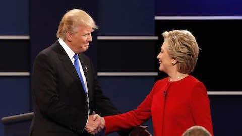 Clinton Assails Trump in Blistering Debate