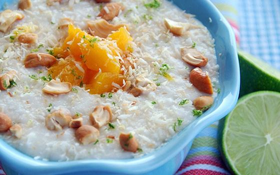 Coconut-Lime Rice Pudding with Mangoes Recipe