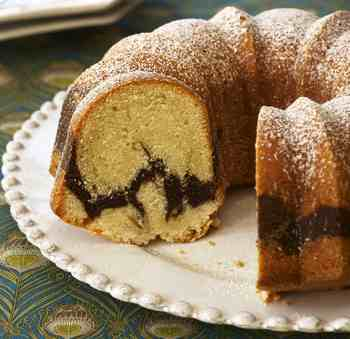 Almond-Chocolate Marble Pound Cake Recipe — Dishmaps