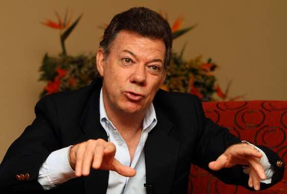 Colombia President Juan Manuel Santos