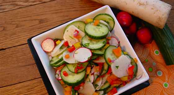 Confetti Cucumber and Radish Salad Recipe
