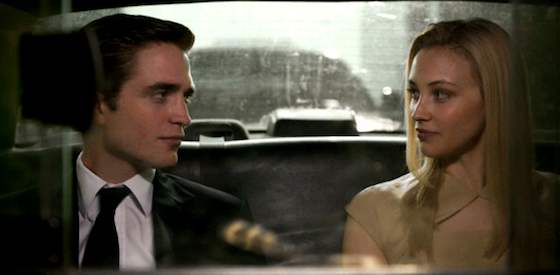 Robert Pattinson and Juliette Binoche  in Cosmopolis