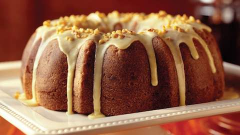 Cranberry-Beet Bundt Cake with Orange-Walnut Glaze Recipe