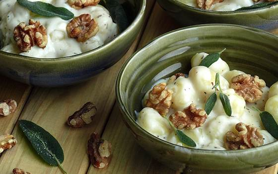 Creamy Gnocchi with Walnuts and Sage Recipe