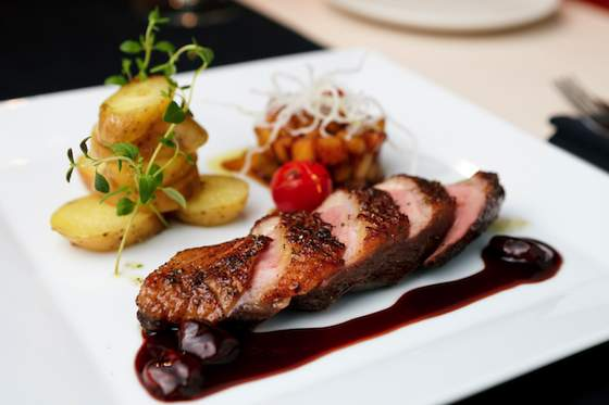 Crispy Duck Breast with Cherry Port Sauce Recipe