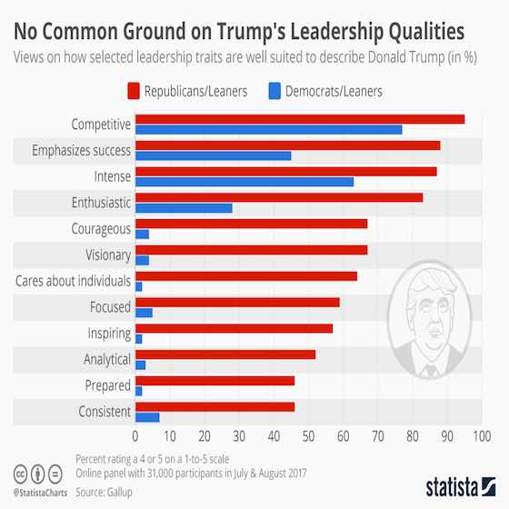 No Common Ground on Trump's Leadership Qualities